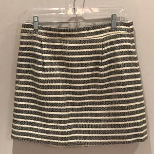 Striped j crew skirt